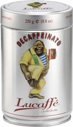 Lucaffé Koffeinmentes 100% arabica szemes, pörkölt díszdobozos kávé