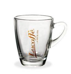 Lucaffé hőálló üveg teás/capuccinós/forrócsokis pohár